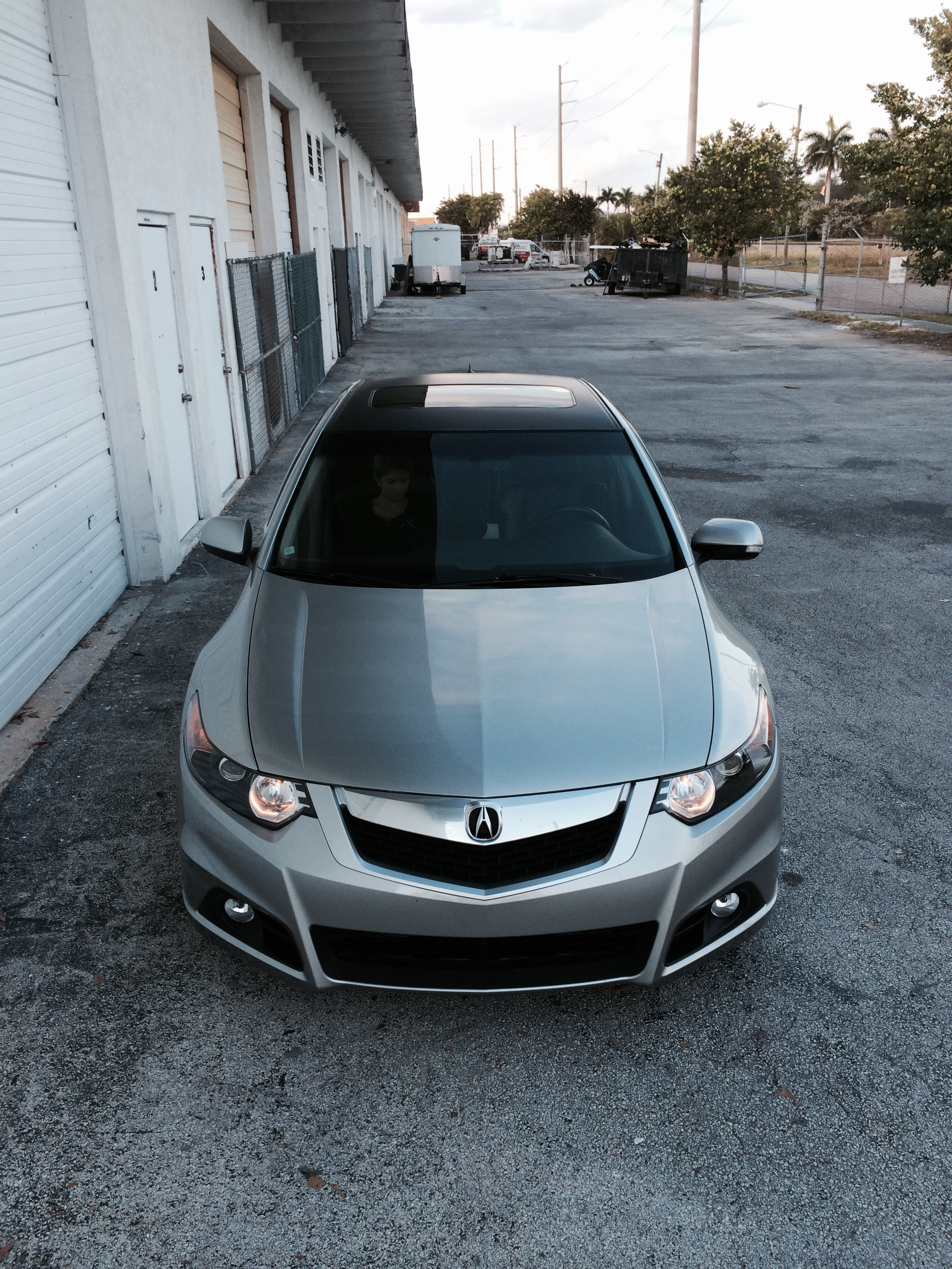 Intack Signs And Wraps 187 Acura Tsx Matte Black Roof Wrap