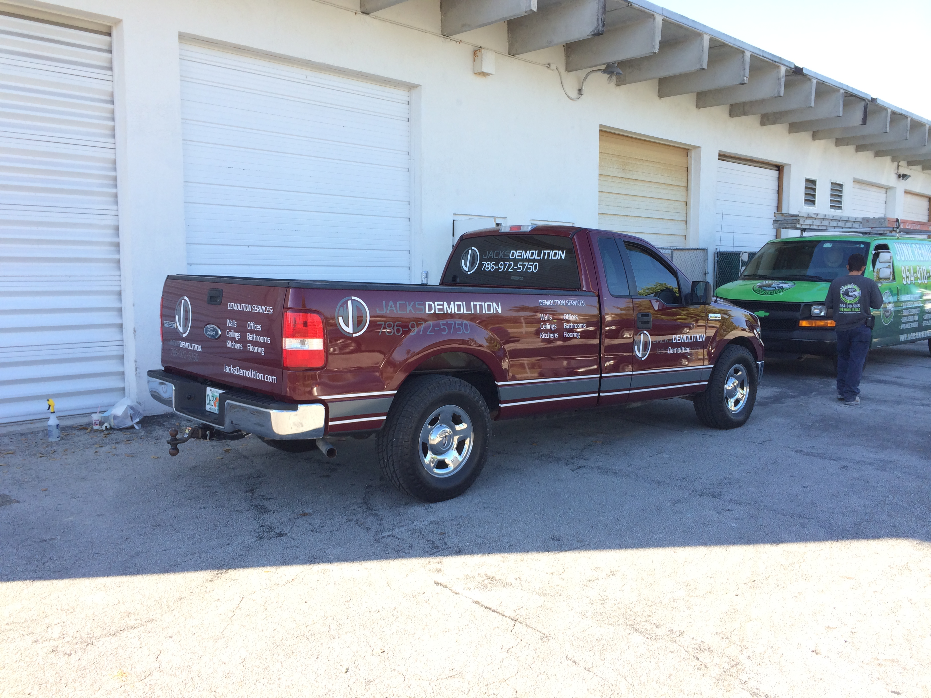intack signs and wraps ford f 150 work truck. Black Bedroom Furniture Sets. Home Design Ideas